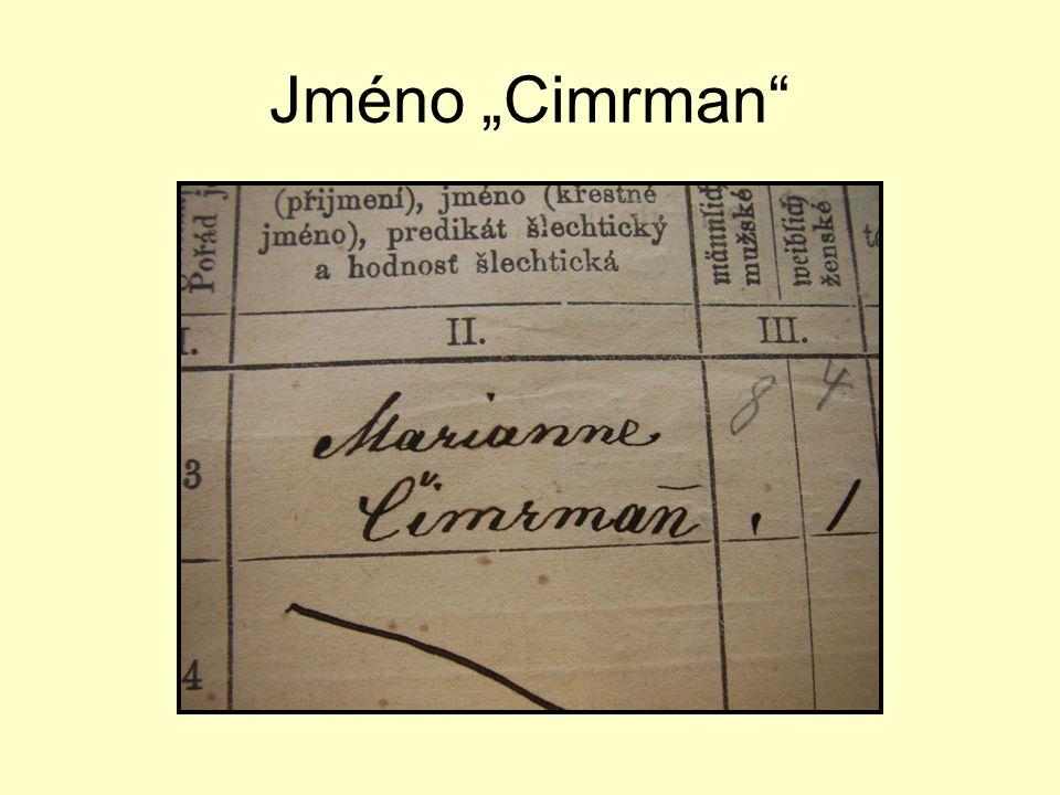 "Jméno ""Cimrman"