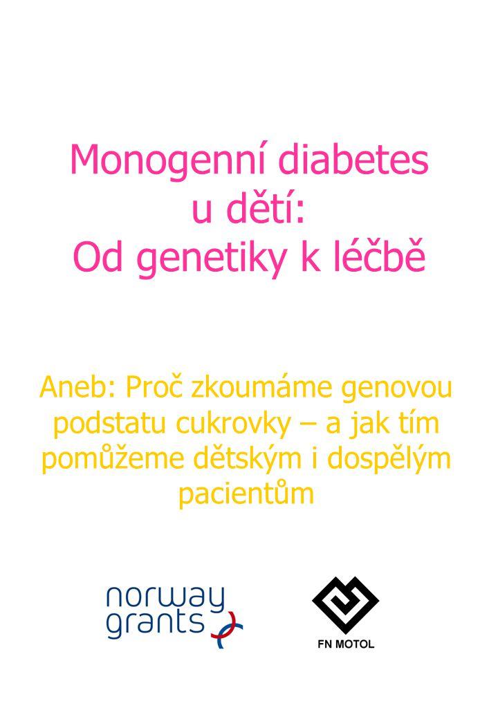 Monogenní diabetes u dětí: Od genetiky k léčbě Aneb: Proč zkoumáme genovou podstatu cukrovky – a jak tím pomůžeme dětským i dospělým pacientům