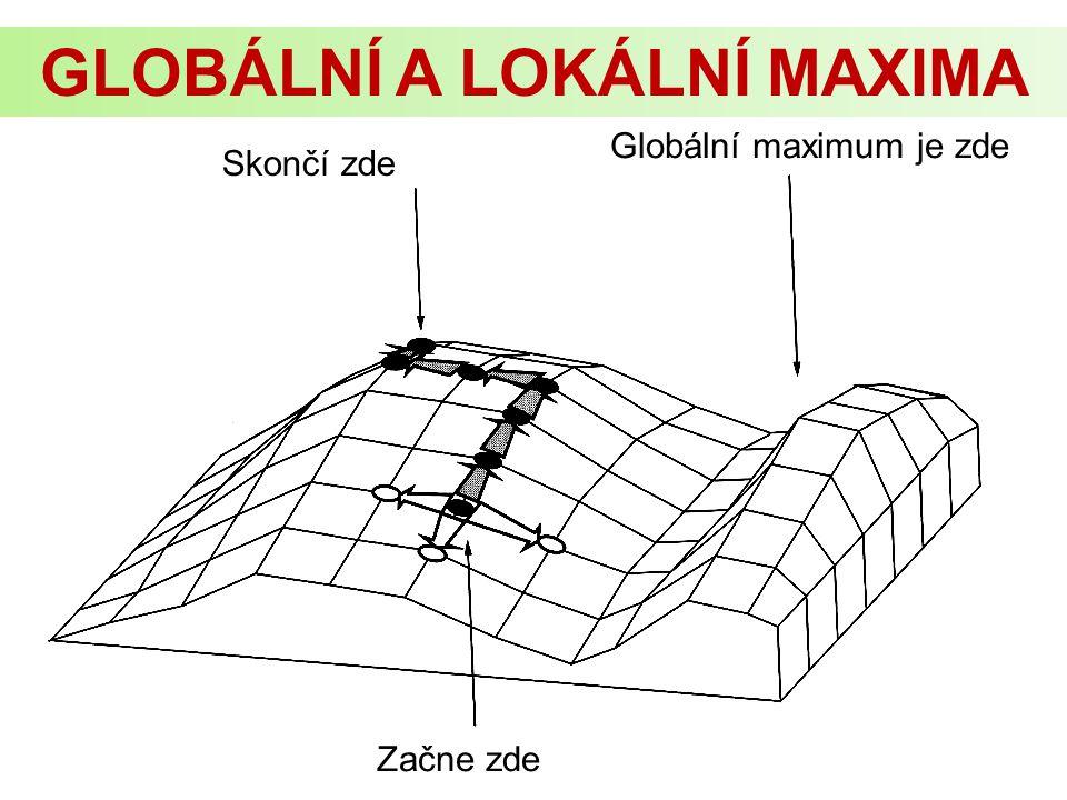 Globální maximum je zde Začne zde Skončí zde GLOBÁLNÍ A LOKÁLNÍ MAXIMA