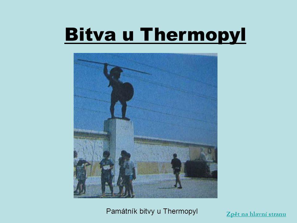 Památník bitvy u Thermopyl Zpět na hlavní stranu