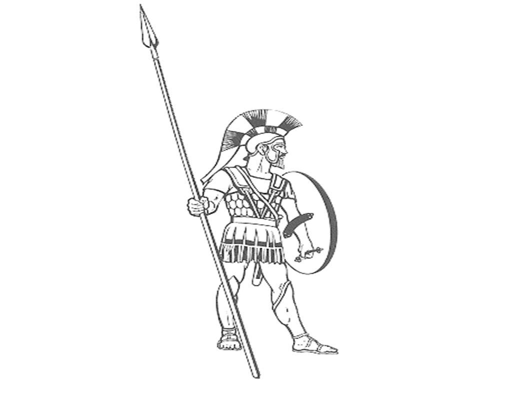 Řecká bojová linie měřila 5 km Na pravém křídle byla bráněna Sparťany a na levém Atéňany.