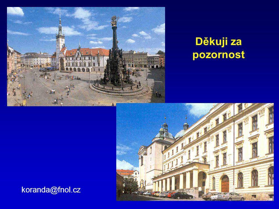Děkuji za pozornost koranda@fnol.cz