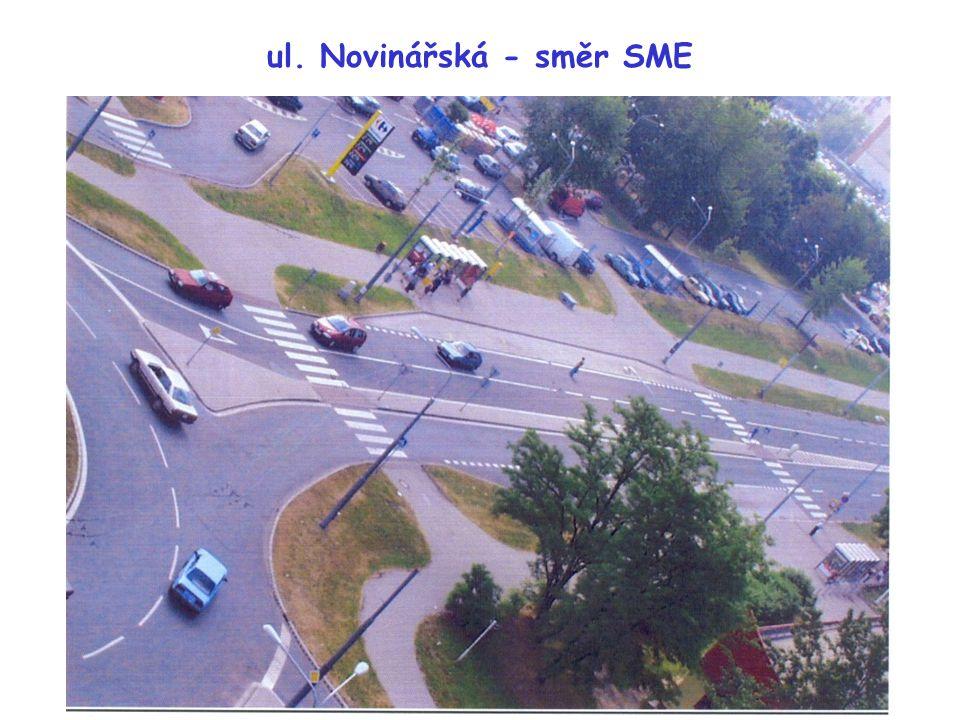 ul. Novinářská - směr SME
