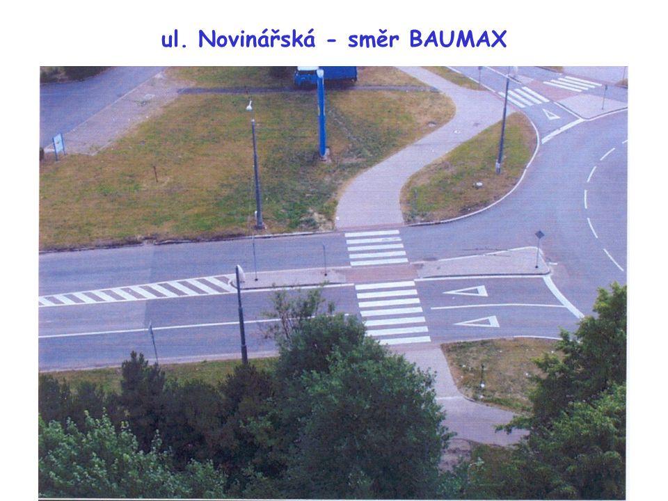 ul. Novinářská - směr BAUMAX