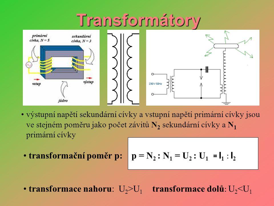 Použití transformátorů • transformace dolů: N 2 I 1 • bodové sváření
