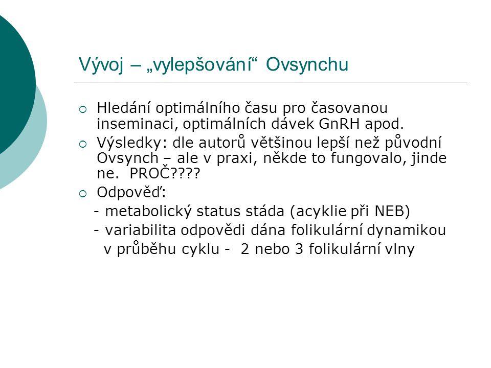 ovarium 9.den cyklu kompaktní CL 29x23,5mm ovarium 8.den cyklu cystické CL