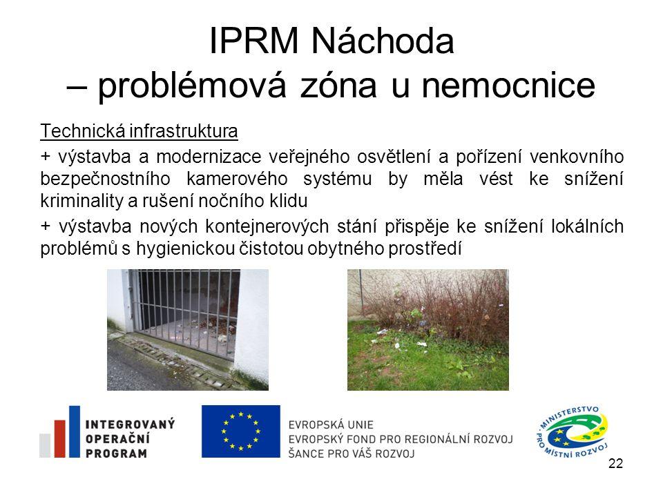IPRM Náchoda – problémová zóna u nemocnice Technická infrastruktura + výstavba a modernizace veřejného osvětlení a pořízení venkovního bezpečnostního