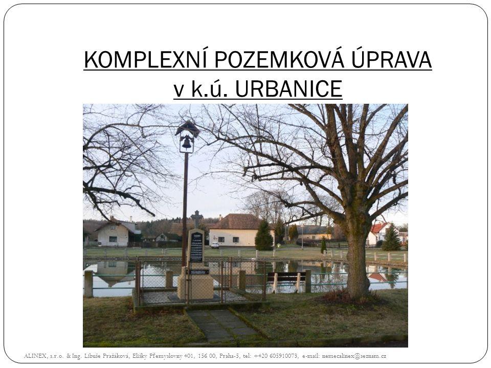 KOMPLEXNÍ POZEMKOVÁ ÚPRAVA v k.ú. URBANICE ALINEX, s.r.o. & Ing. Libuše Pražáková, Elišky P ř emyslovny 401, 156 00, Praha-5, tel: +420 605910073, e-m