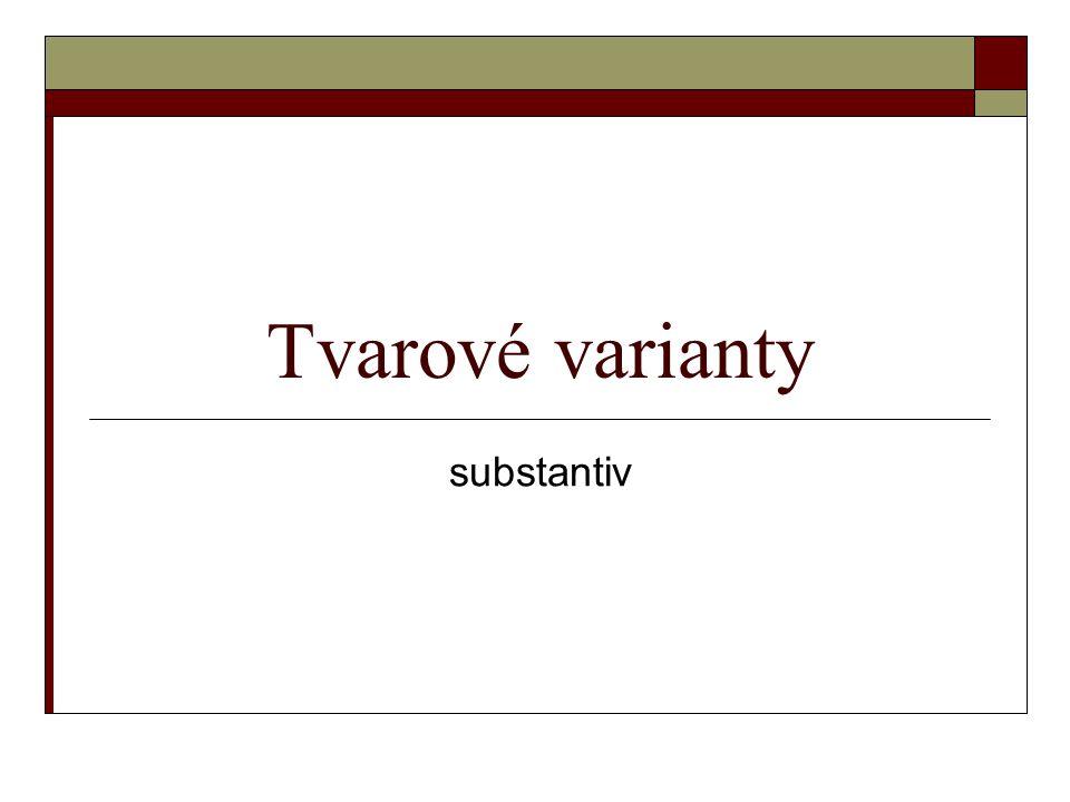 Tvarové varianty substantiv