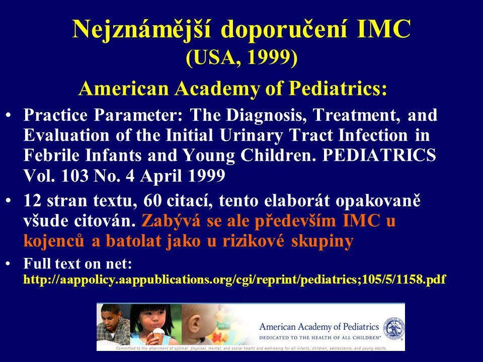 Diagnostika IMC – zobrazovací metody- DMSA scan vs.