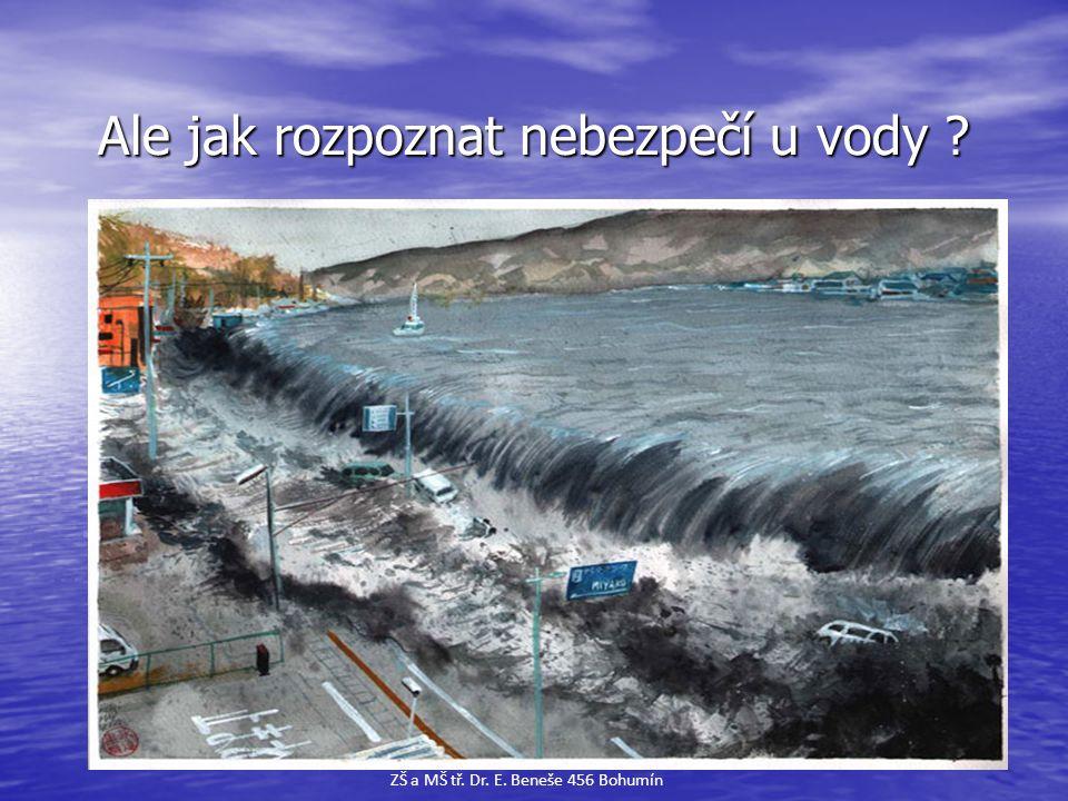 Ale jak rozpoznat nebezpečí u vody ? Ale jak rozpoznat nebezpečí u vody ? ZŠ a MŠ tř. Dr. E. Beneše 456 Bohumín
