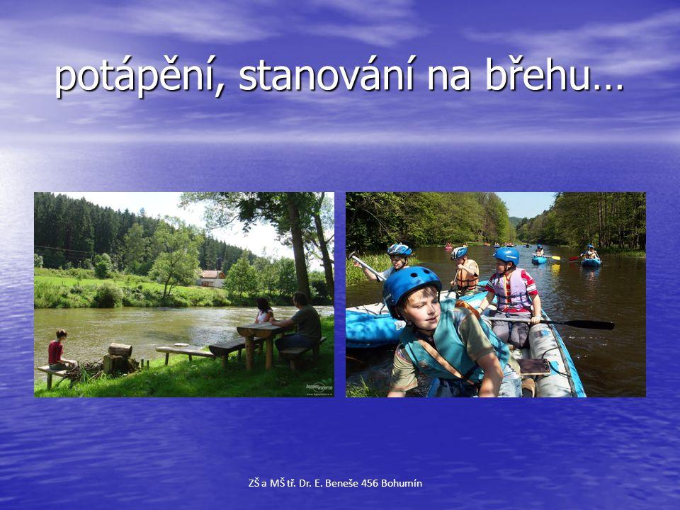 potápění, stanování na břehu… potápění, stanování na břehu… ZŠ a MŠ tř. Dr. E. Beneše 456 Bohumín