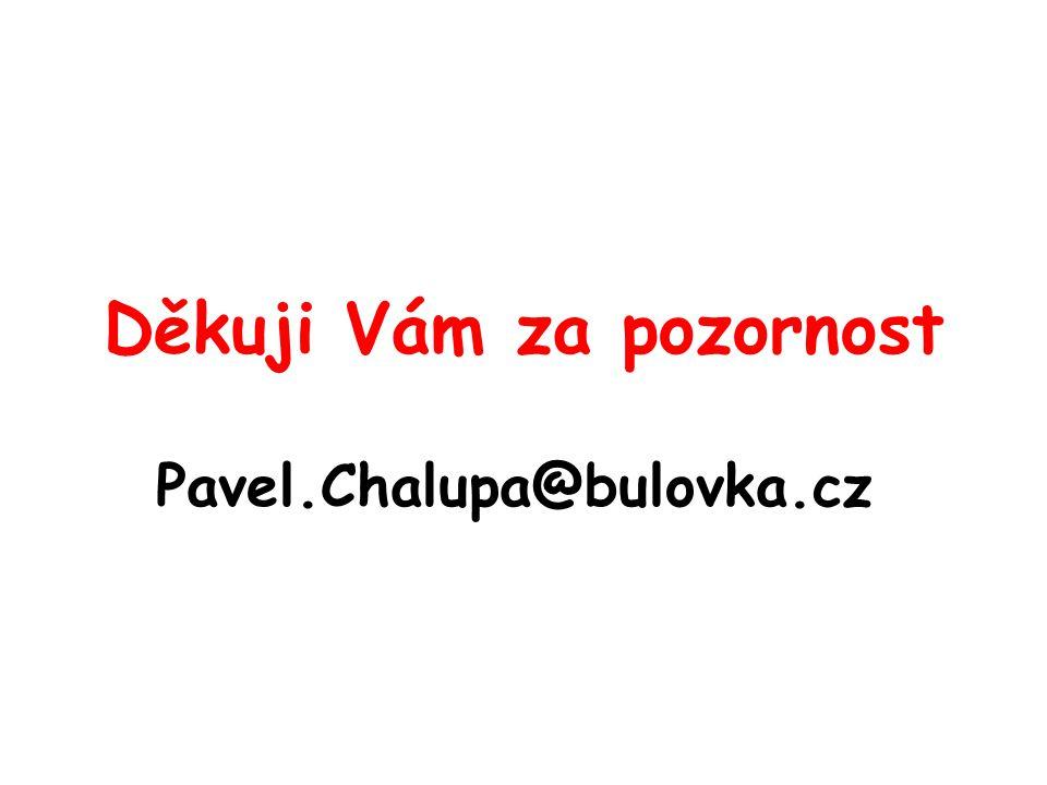 Děkuji Vám za pozornost Pavel.Chalupa@bulovka.cz
