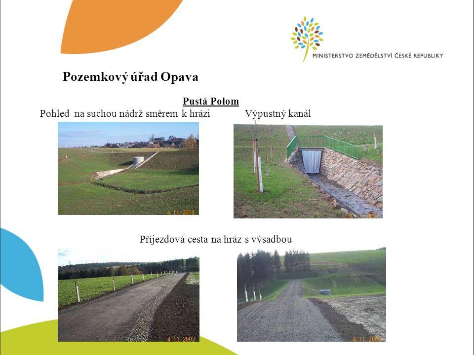 Darkovice Příjezdová cesta k poldrům Poldr VI