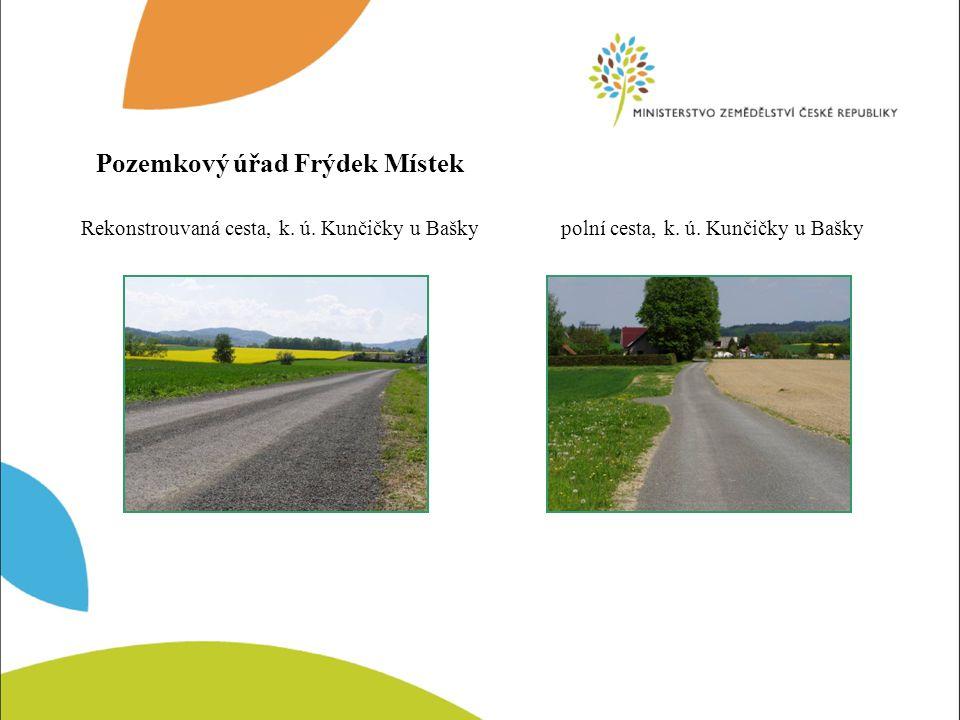 Propustek - vtoková část, k.ú. Kunčičky u Bašky Propustek - výtoková část, k.