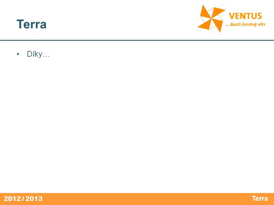 2012 / 2013 Terra •Díky… Terra