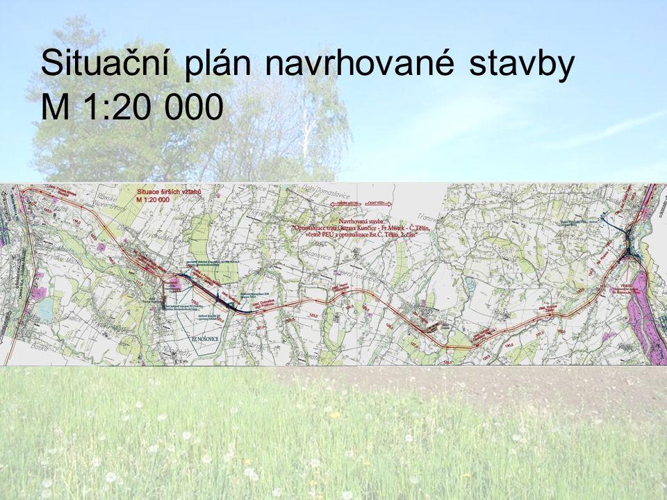 Situační plán navrhované stavby M 1:20 000