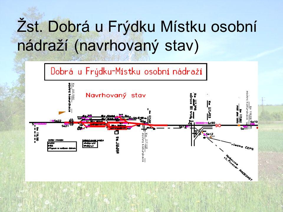 Žst. Dobrá u Frýdku Místku osobní nádraží (navrhovaný stav)