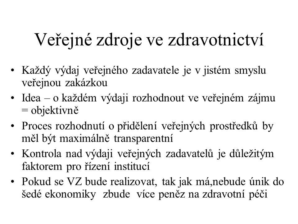 """Tři pohledy na veřejné zakázky •Pohled zákonodárce, daňového polatníka – logika """"peníze nejsou zadavatele, pouze s nimi má řádně hospodařit ve veřejném zájmu •Pohled zadavatele (managementu,instituce, kliniky,oddělení) – logika """"moje peníze podle úvahy rozdělím vybraným dodavatelům, kteří mi nejlépe vyhovují •Pohled dodavatele -logika – já,já,já,jenom já- dosažení maximálního zisku"""