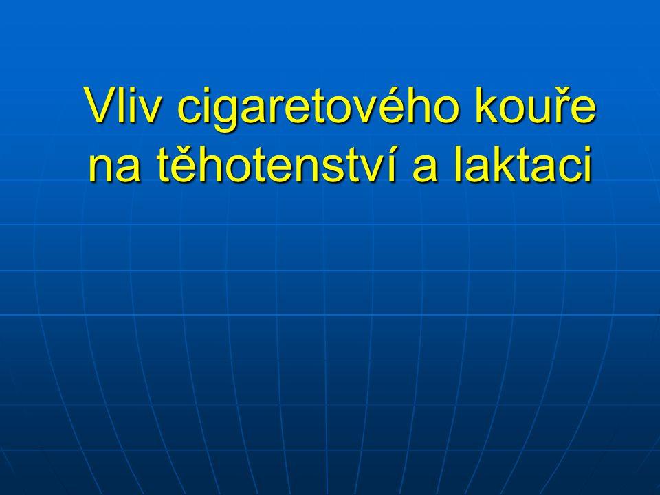 Vliv cigaretového kouře na těhotenství a laktaci