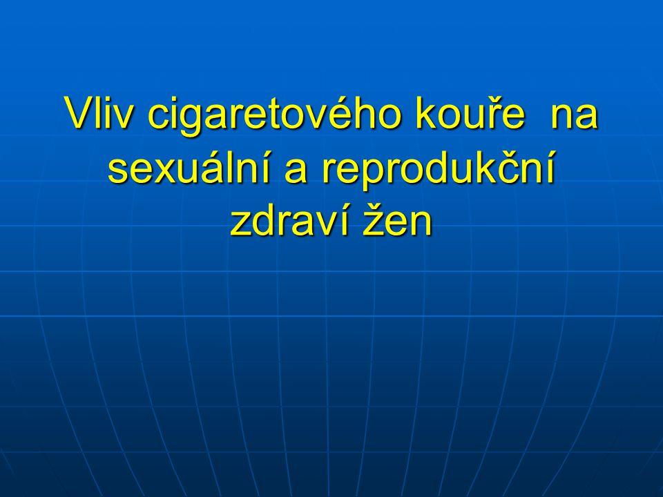 Vliv cigaretového kouře na sexuální a reprodukční zdraví žen