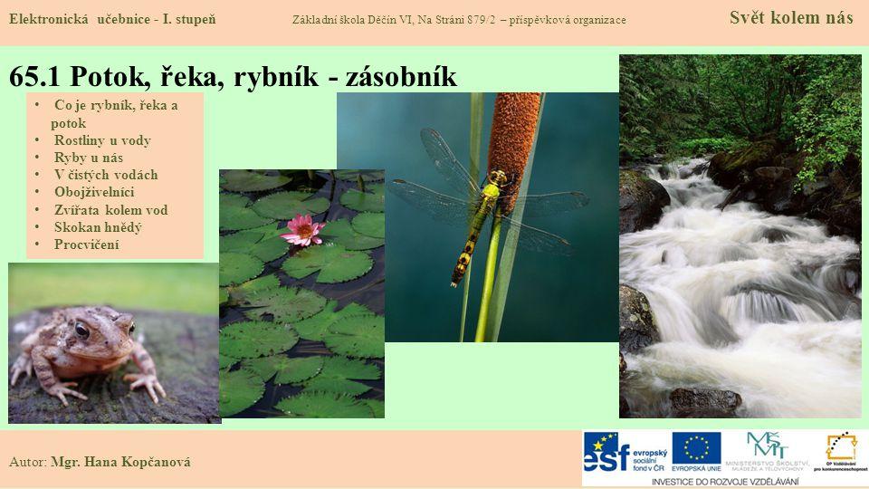 65.2 Co je rybník, řeka a potok.Elektronická učebnice - I.