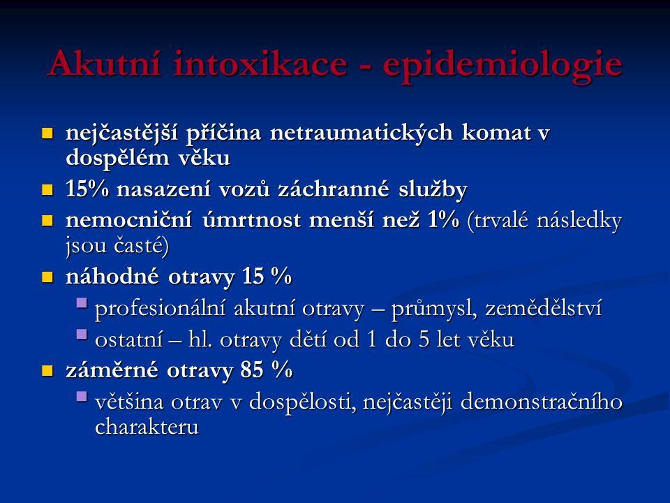 Specifika léčby intoxikací III.