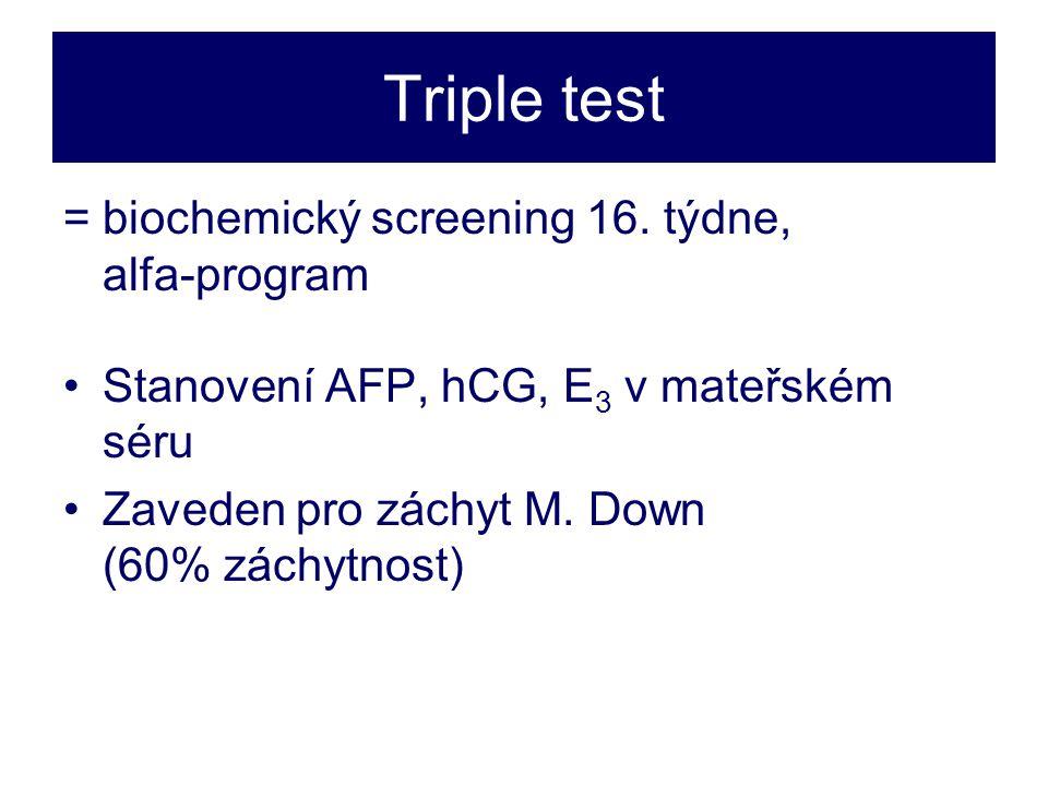 Triple test =biochemický screening 16.