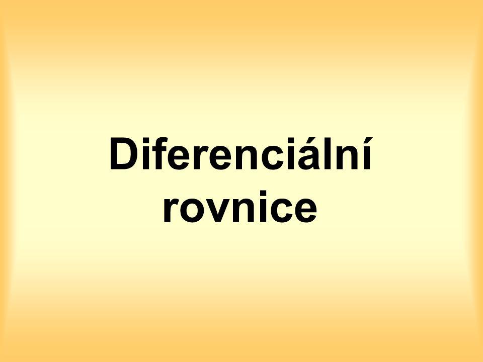 Diferenciální rovnice