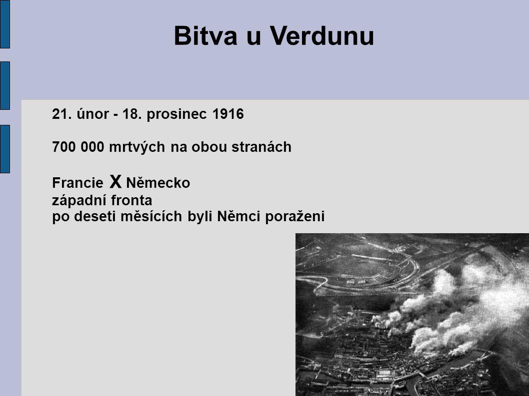 Bitva u Verdunu 21.únor - 18.