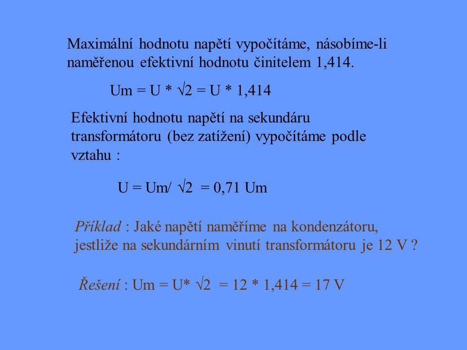 """Istř Ief Imax i HODNOTY STŘÍDAVÉHO PROUDU Maximální hodnota - za symbol zpravidla připojujeme index """"m"""" nebo max, tedy Im nebo Imax Střední hodnota -"""