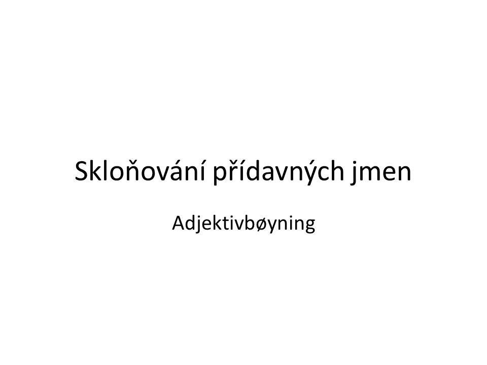 Skloňování přídavných jmen Adjektivbøyning