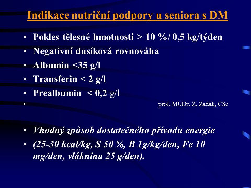 Zásady prevence AHS u diabetika při akutním onemocnění ve stáří Viróza,infekce MC, DC, úraz, dyspepsie •dostatek tekutin a vhodná výživa –zachovat obv