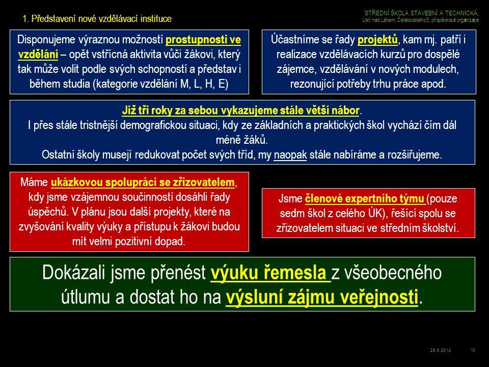 29.6.201411 STŘEDNÍ ŠKOLA STAVEBNÍ A TECHNICKÁ, Ústí nad Labem, Čelakovského 5, příspěvková organizace 2.