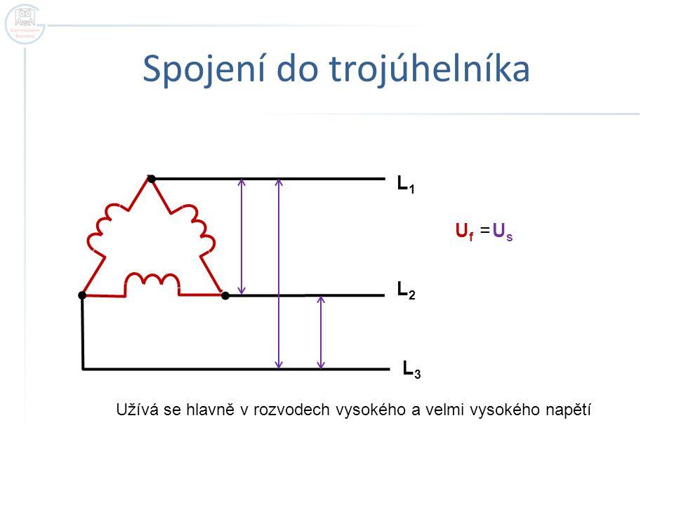 Popis trojfázové soustavy  L 1,L 2,L 3 - fázové vodiče  N – střední vodič  U f - fázové napětí – mezi fázovým a středním vodičem …..