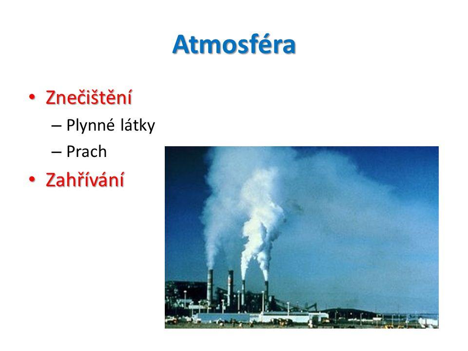 Atmosféra • Znečištění – Plynné látky – Prach • Zahřívání
