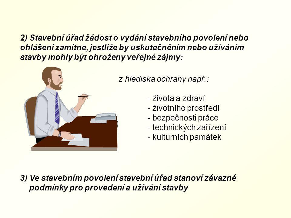 Ad. 6) Stavební řízení (stavební zákon) stavební řízení a ohlášení 1) Stavební úřad zastaví řízení, jestliže: například: - dokumentace stavby nebyla z