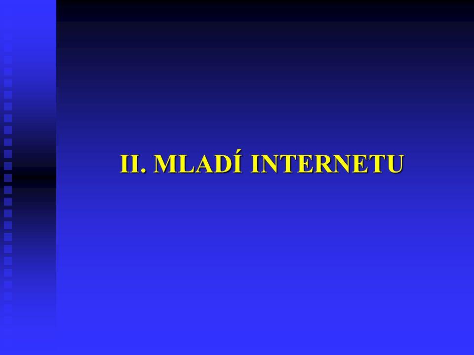 II. MLADÍ INTERNETU