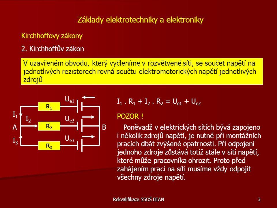 Rekvalifikace SSOŠ BEAN 4 V elektrickém obvodu na obr.