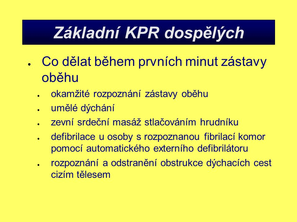 KPR-neprůchodnost dýchacích cest ● Obstrukce dýchacích cest cizím tělesem ● FBAO = foreign body airway obstruction ● urgentní situace vedoucí ke smrti během několika minut ● Příčiny.