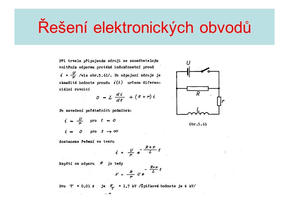 Řešení elektronických obvodů