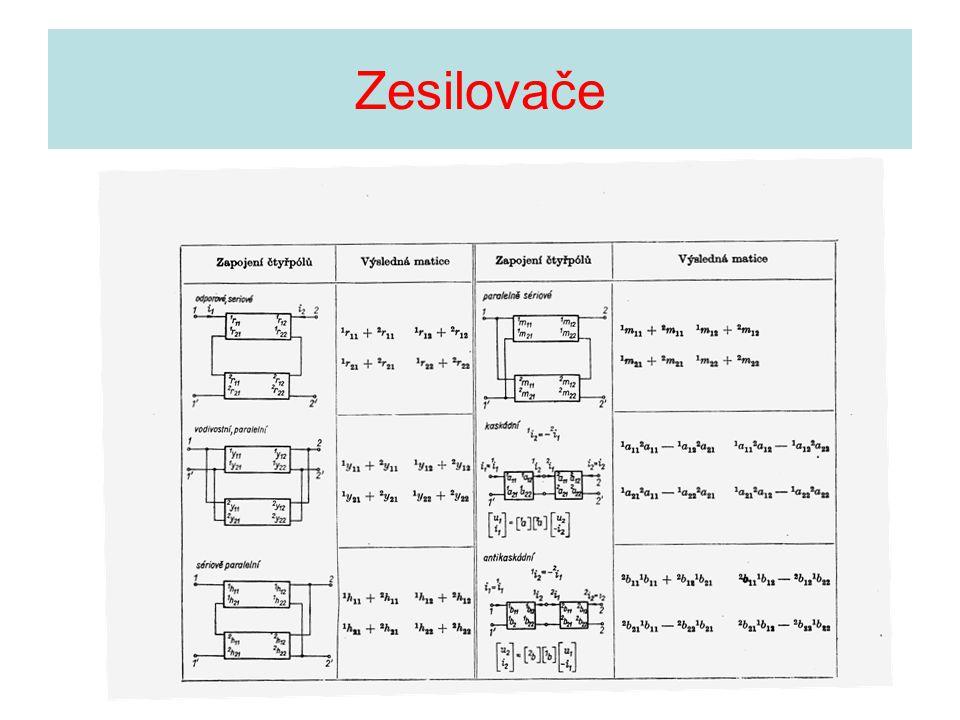 •Stejnosměrné zesilovače •Přenos ss signálů-možnost ovlivnění posunem ss pracovního bodu •Symetrické zapojení pro kompenzaci – tzv.