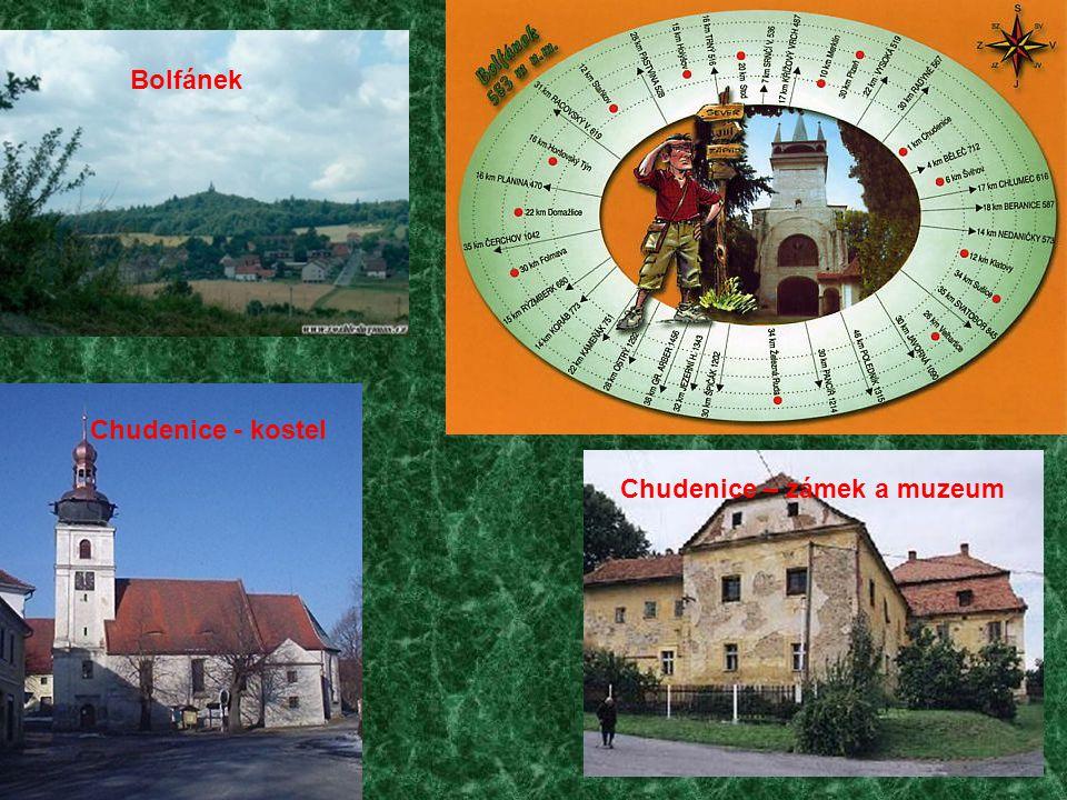 Chudenice - kostel Chudenice – zámek a muzeum Bolfánek