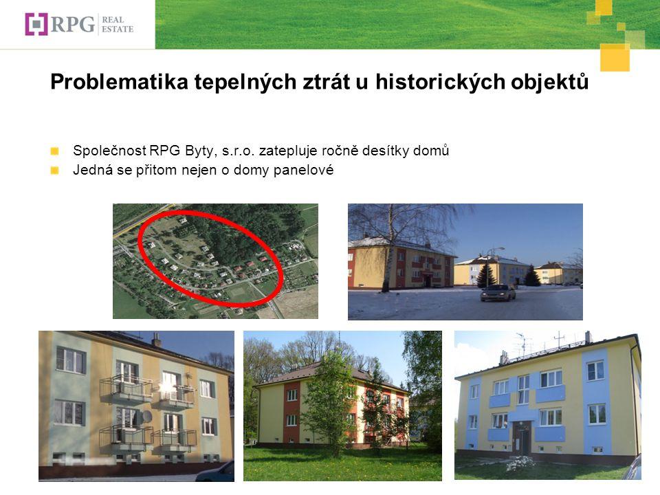 Problematika tepelných ztrát u historických objektů Společnost RPG Byty, s.r.o.