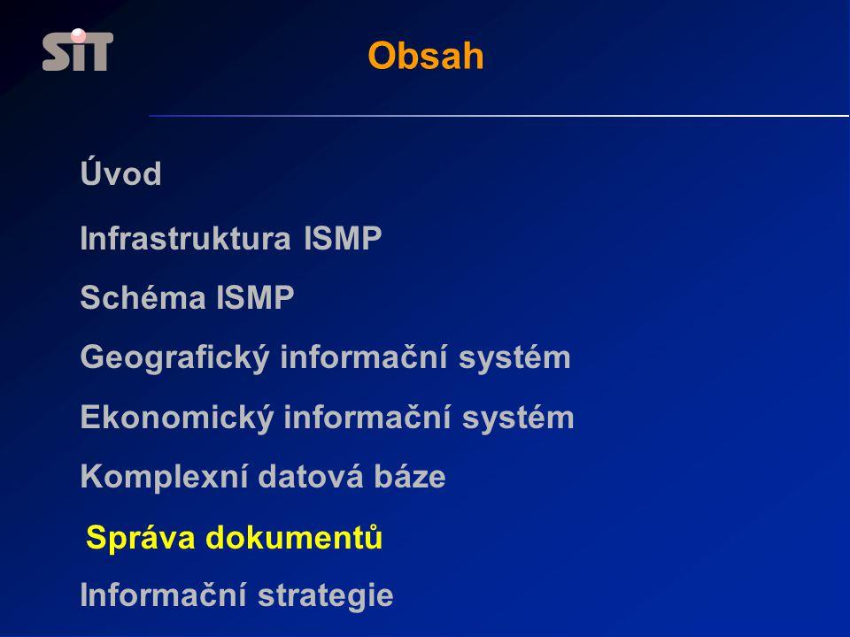 Obsah Úvod Infrastruktura ISMP Schéma ISMP Geografický informační systém Ekonomický informační systém Komplexní datová báze Informační strategie Správ