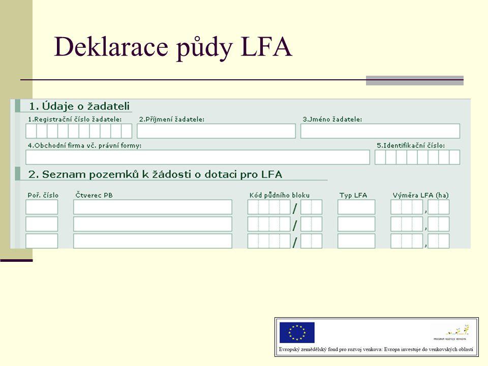Deklarace půdy LFA