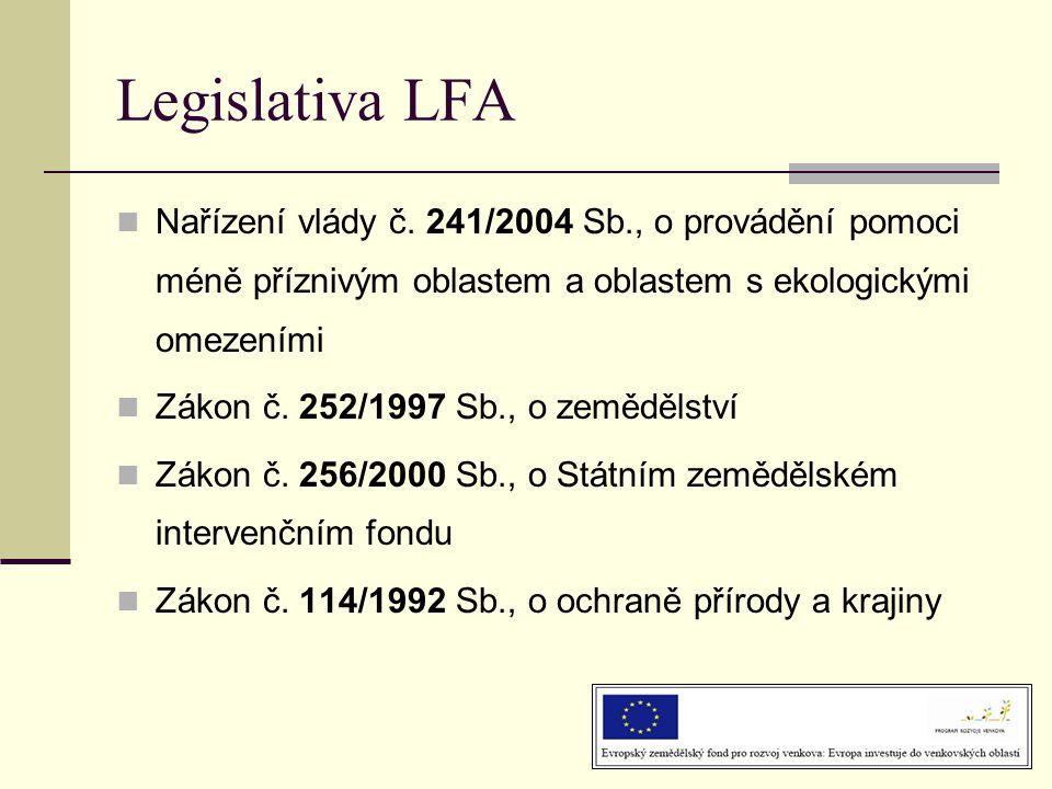 Legislativa LFA  Nařízení vlády č.