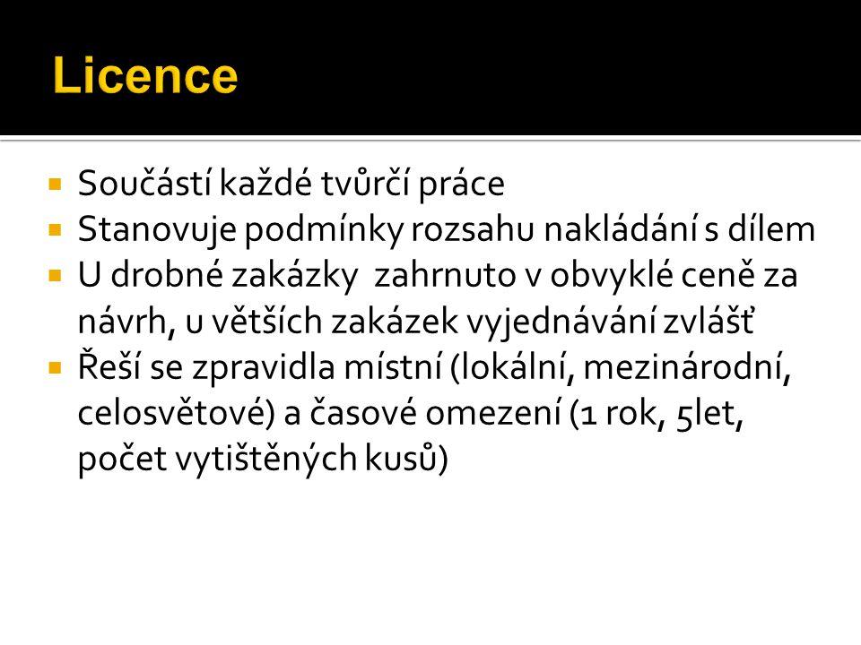  Definice zakázky, komu je produkt určen  U loga počet variant a jazykových mutací  U logomanuálu počet stran  U designmanuálu počet aplikací  Tiskoviny – formát, rozsah, barevnost bloku, obálka, struktura text.
