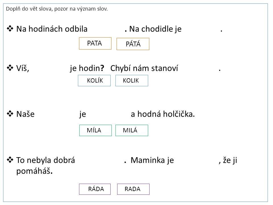 Pracovní list 1 1)Z básničky Na saních, od J.
