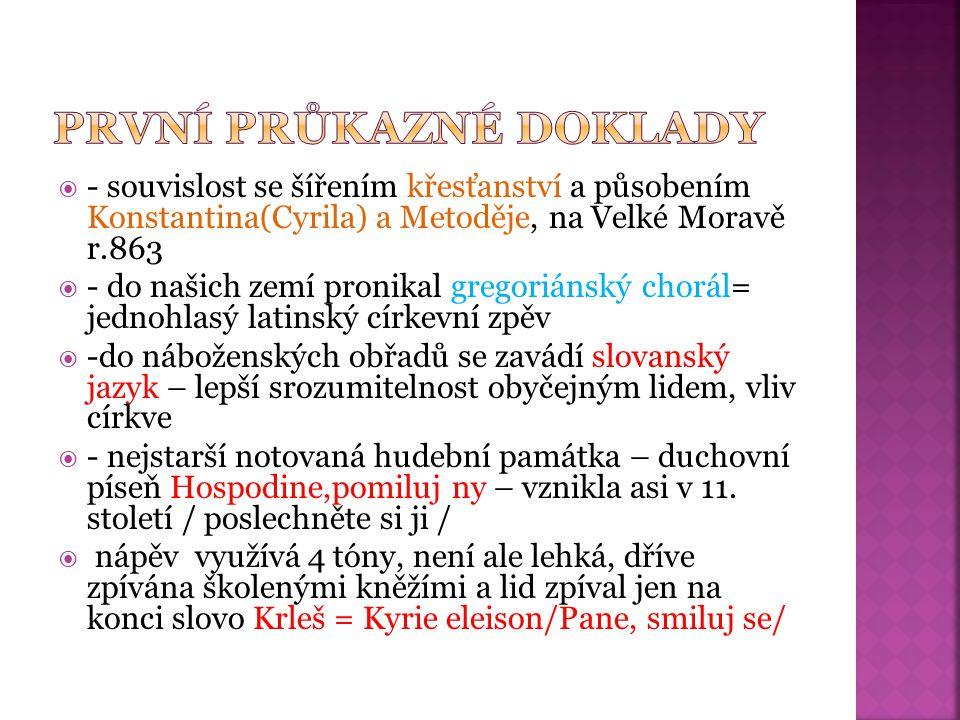  - píseň Svatý Václave – vznikla asi ve 13.